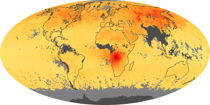 Global Map Carbon Monoxide Image 73