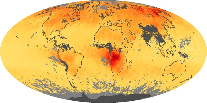 Global Map Carbon Monoxide Image 150