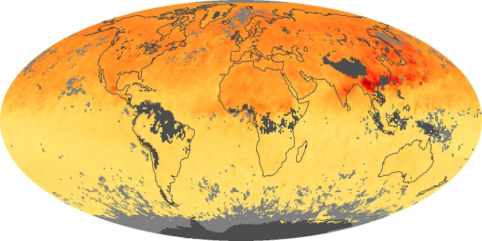 Global Map Carbon Monoxide Image 158
