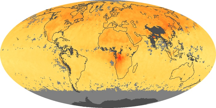 Global Map Carbon Monoxide Image 160