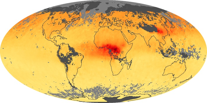 Global Map Carbon Monoxide Image 167
