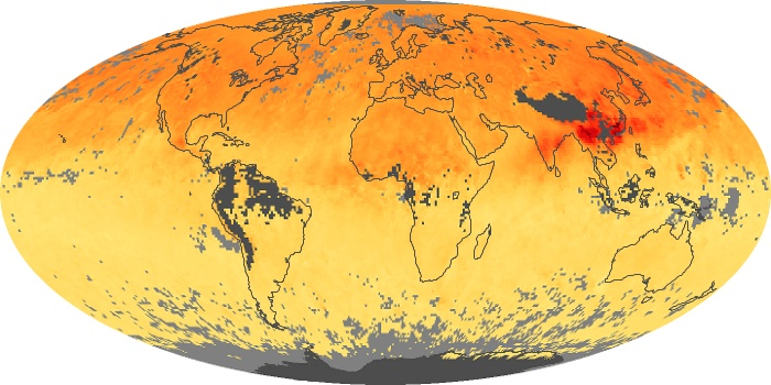 Global Map Carbon Monoxide Image 170