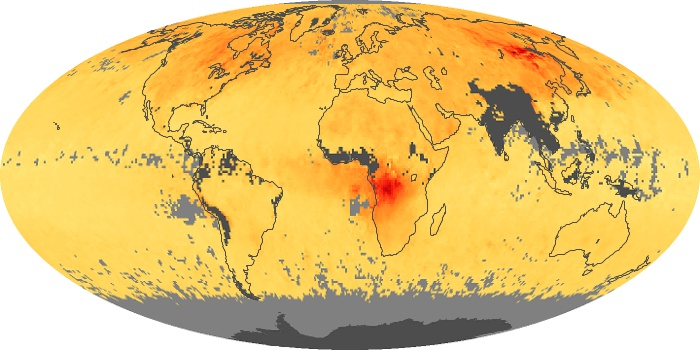 Global Map Carbon Monoxide Image 97