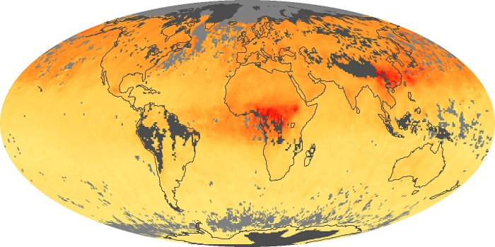 Global Map Carbon Monoxide Image 180