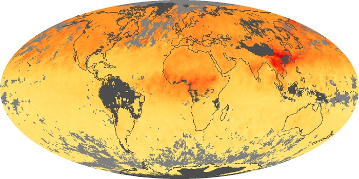 Global Map Carbon Monoxide Image 181