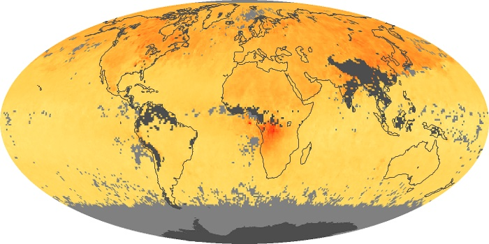 Global Map Carbon Monoxide Image 184