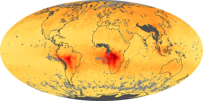 Global Map Carbon Monoxide Image 187