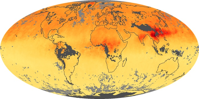 Global Map Carbon Monoxide Image 117