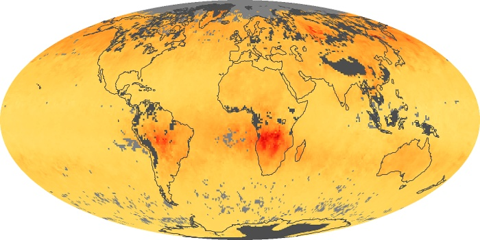 Global Map Carbon Monoxide Image 200