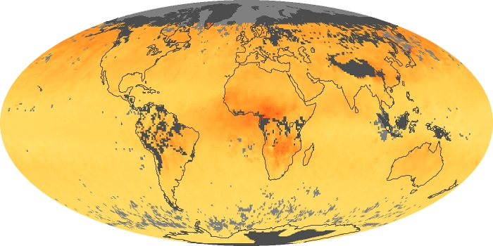 Global Map Carbon Monoxide Image 201