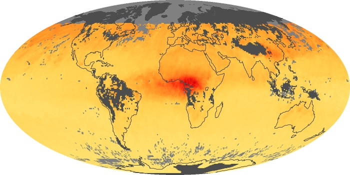Global Map Carbon Monoxide Image 202