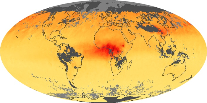 Global Map Carbon Monoxide Image 203