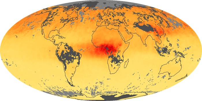 Global Map Carbon Monoxide Image 128