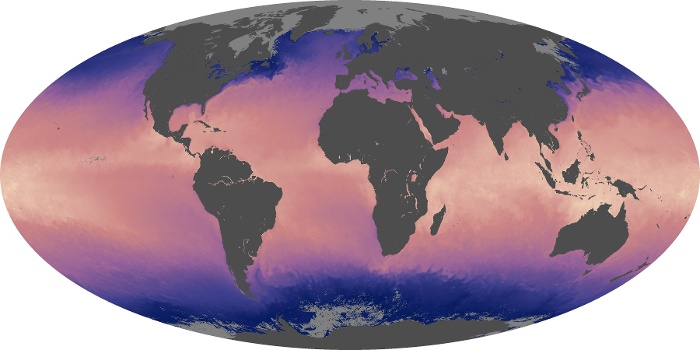Global Map Sea Surface Temperature Image 6