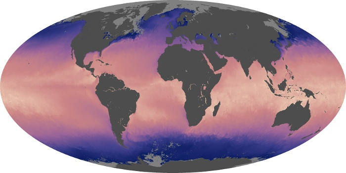 Global Map Sea Surface Temperature Image 8