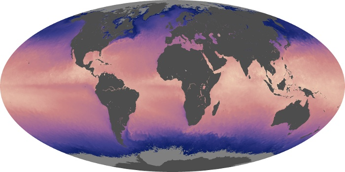 Global Map Sea Surface Temperature Image 11