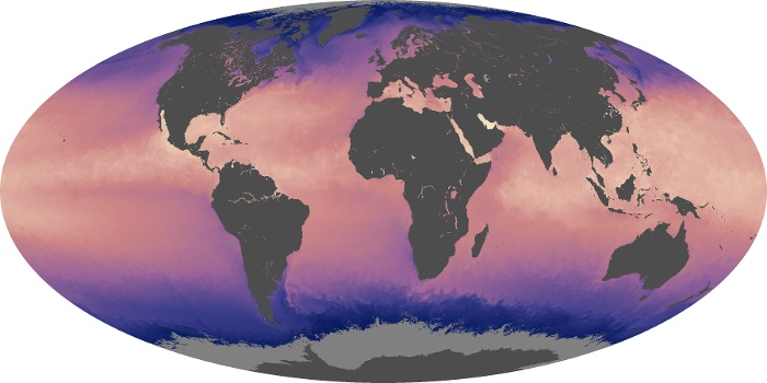Global Map Sea Surface Temperature Image 14