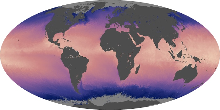 Global Map Sea Surface Temperature Image 17