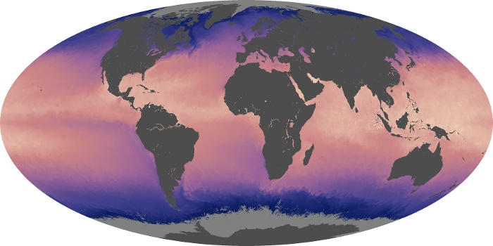 Global Map Sea Surface Temperature Image 64