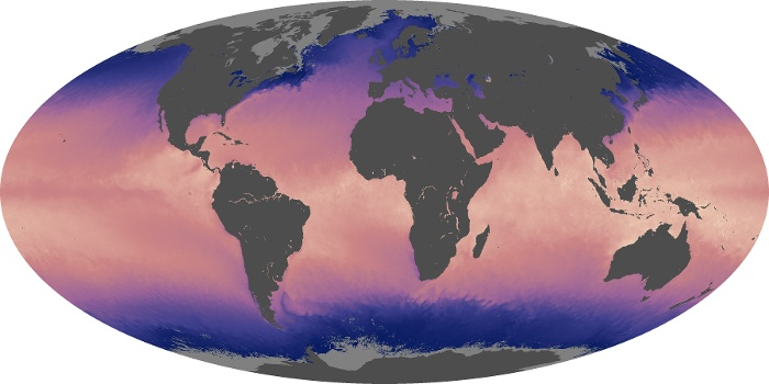 Global Map Sea Surface Temperature Image 69