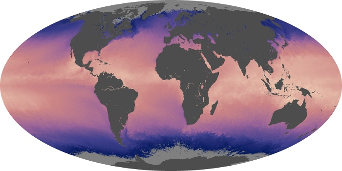 Global Map Sea Surface Temperature Image 77