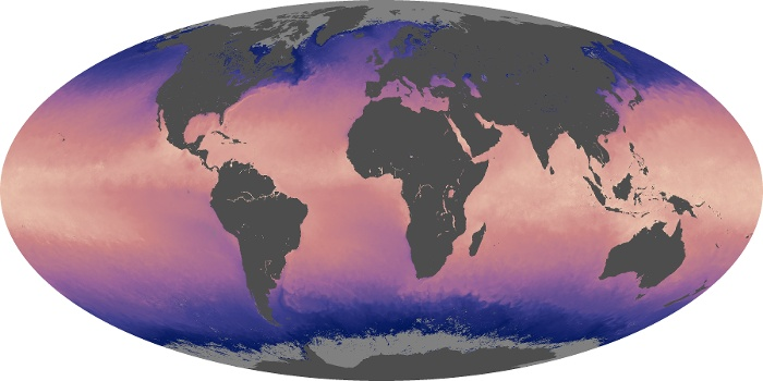 Global Map Sea Surface Temperature Image 89