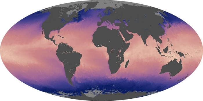 Global Map Sea Surface Temperature Image 90