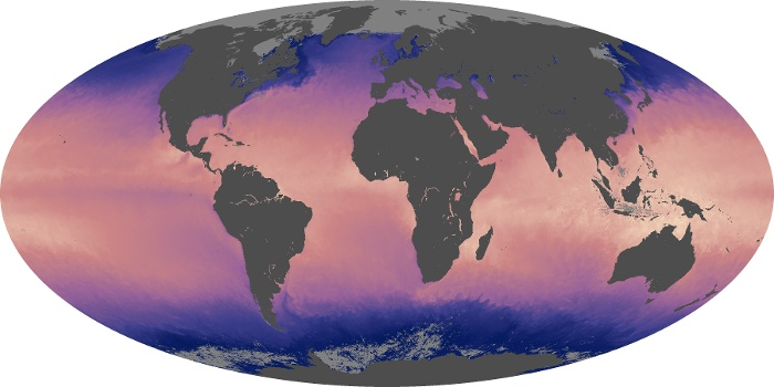 Global Map Sea Surface Temperature Image 102
