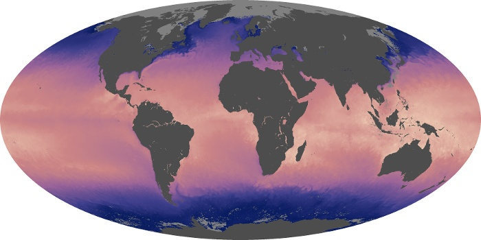 Global Map Sea Surface Temperature Image 103
