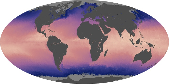 Global Map Sea Surface Temperature Image 70