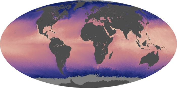 Global Map Sea Surface Temperature Image 120