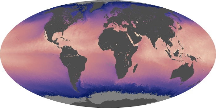Global Map Sea Surface Temperature Image 123