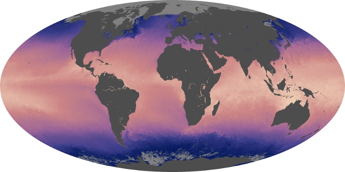 Global Map Sea Surface Temperature Image 126