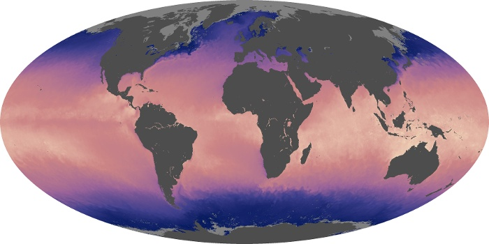 Global Map Sea Surface Temperature Image 128