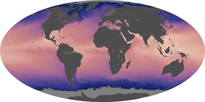 Global Map Sea Surface Temperature Image 132