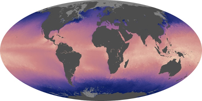 Global Map Sea Surface Temperature Image 91