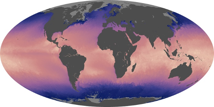 Global Map Sea Surface Temperature Image 92