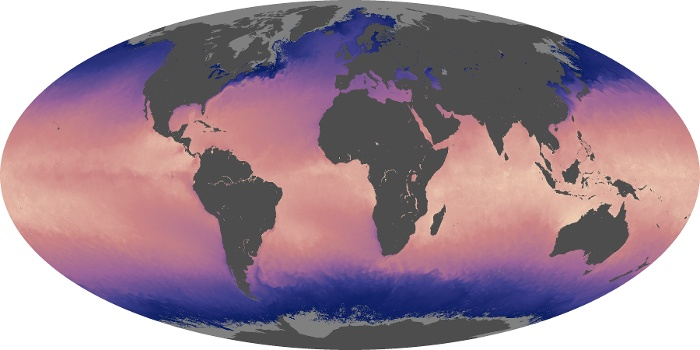 Global Map Sea Surface Temperature Image 141