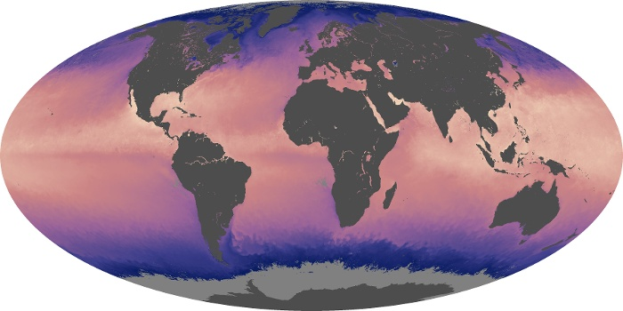 Global Map Sea Surface Temperature Image 145