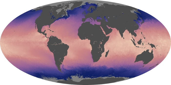 Global Map Sea Surface Temperature Image 105