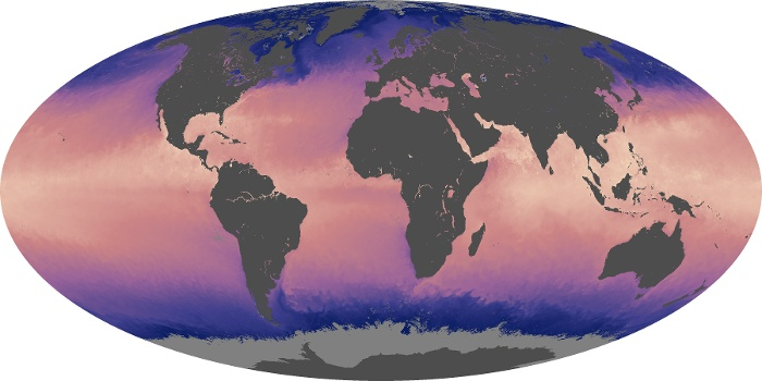 Global Map Sea Surface Temperature Image 156