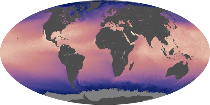 Global Map Sea Surface Temperature Image 158