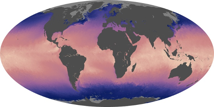 Global Map Sea Surface Temperature Image 164