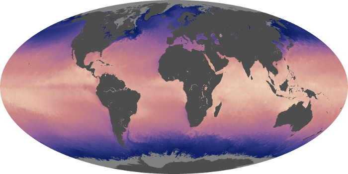 Global Map Sea Surface Temperature Image 166