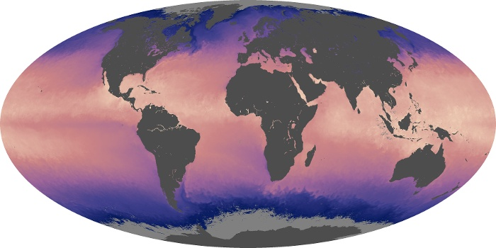 Global Map Sea Surface Temperature Image 172
