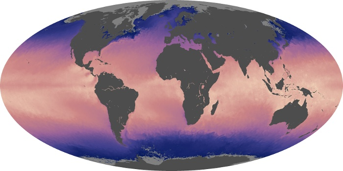 Global Map Sea Surface Temperature Image 129