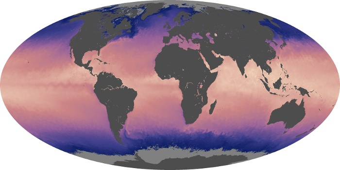 Global Map Sea Surface Temperature Image 131