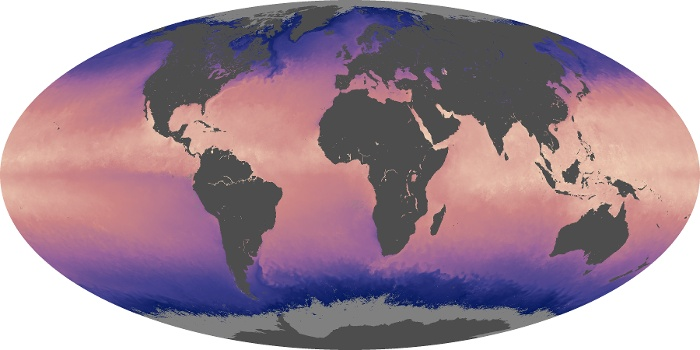 Global Map Sea Surface Temperature Image 184
