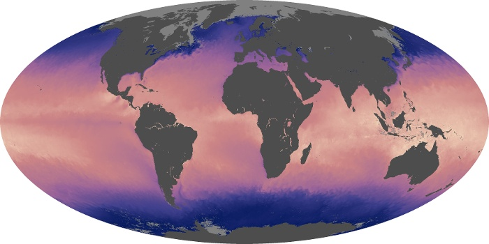 Global Map Sea Surface Temperature Image 187