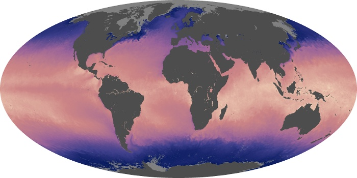 Global Map Sea Surface Temperature Image 140